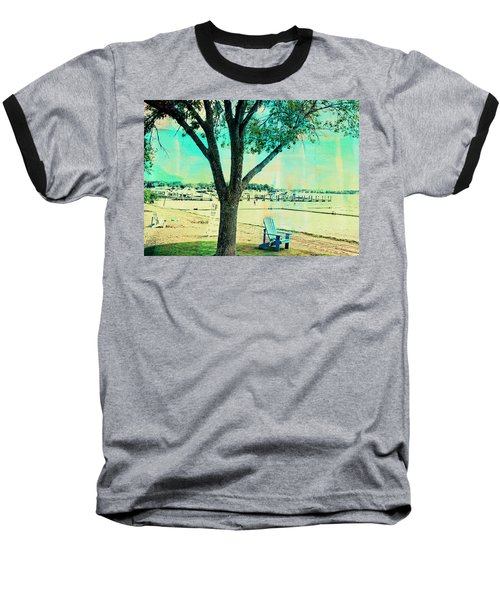 Baseball T-Shirt featuring the photograph Blue Beach Chair by Susan Stone