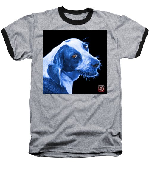 Blue Beagle Dog Art- 6896 - Bb Baseball T-Shirt by James Ahn