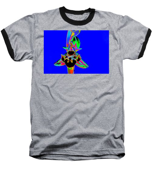 Blue Bee Orchid Baseball T-Shirt by Richard Patmore