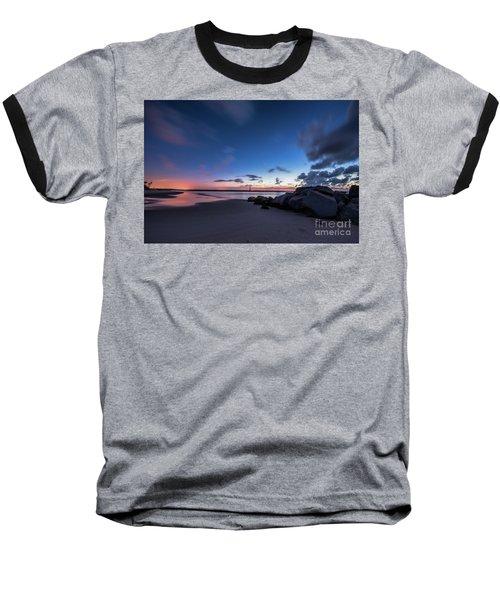 Blue Betsy Sunrise Baseball T-Shirt by Robert Loe