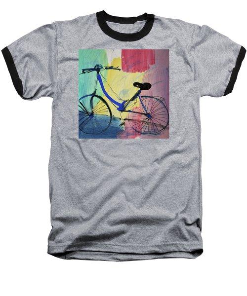 Blue Bicycle Baseball T-Shirt