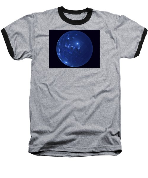 Blue Big Sphere With Squares Baseball T-Shirt by Ernst Dittmar