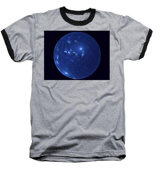 Blue Big Sphere With Squares Baseball T-Shirt