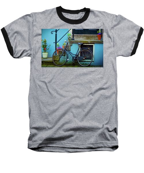 Blue Bike Baseball T-Shirt