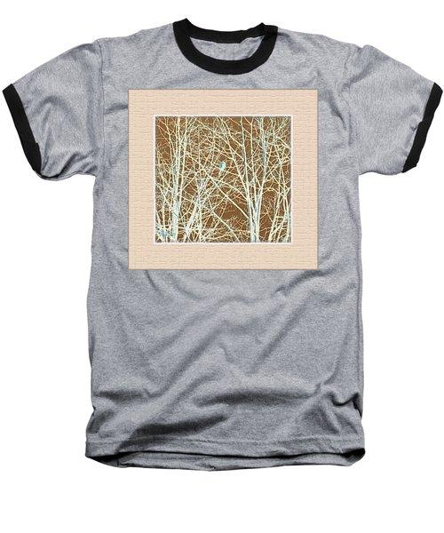 Blue Bird In Winter Tree Baseball T-Shirt by Felipe Adan Lerma