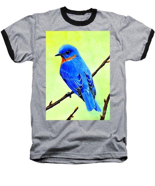 Blue Bird King Baseball T-Shirt