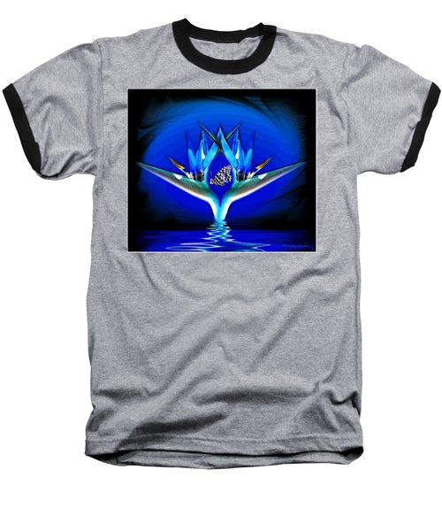 Baseball T-Shirt featuring the photograph Blue Bird Of Paradise by Joyce Dickens