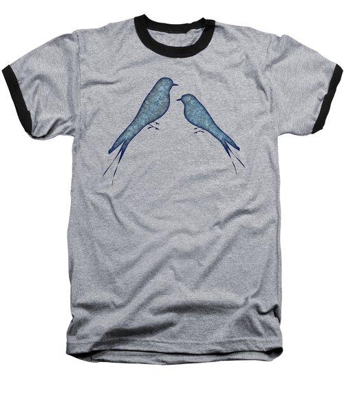Blue Birds 2  Baseball T-Shirt
