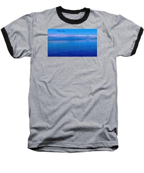 Baseball T-Shirt featuring the photograph Blue Blue Sea by Vicky Tarcau