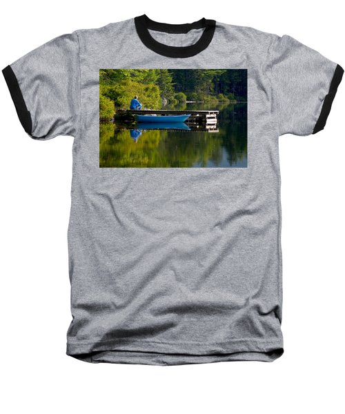 Blue Boat Baseball T-Shirt by Brent L Ander