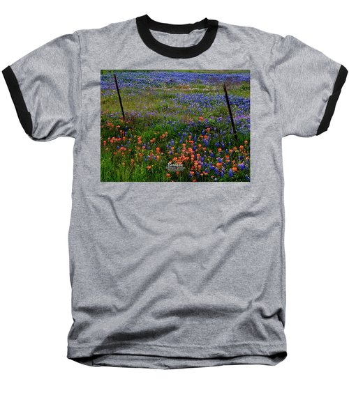 Baseball T-Shirt featuring the photograph Bluebonnets #0487 by Barbara Tristan