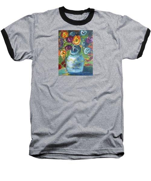 Blue Bouquet Baseball T-Shirt