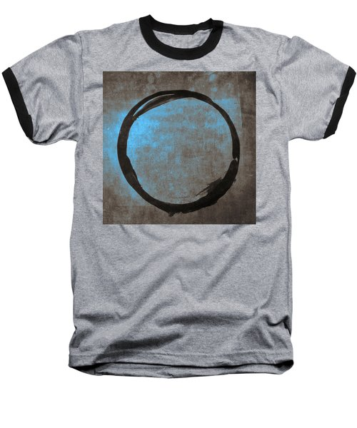 Blue Brown Enso Baseball T-Shirt