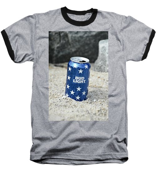 Blue Bud Light Baseball T-Shirt