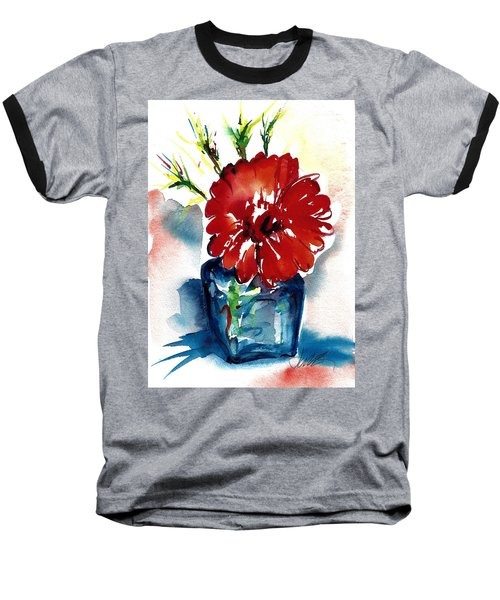 Blue Bud Vase Baseball T-Shirt