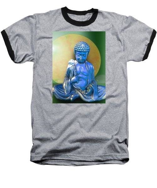 Blue Buddha Figurine Baseball T-Shirt