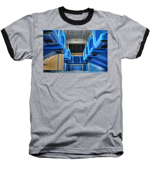 Blue Bus Seats Baseball T-Shirt