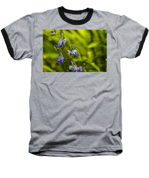 Blue Butterfly Baseball T-Shirt