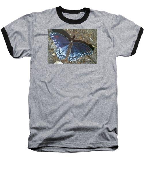 Blue Butterfly - Savannah Charaxes Baseball T-Shirt by Anita Putman