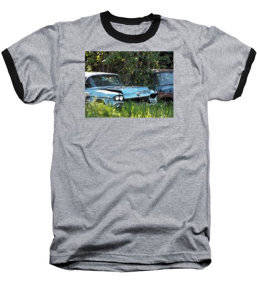Blue Cadillac Baseball T-Shirt