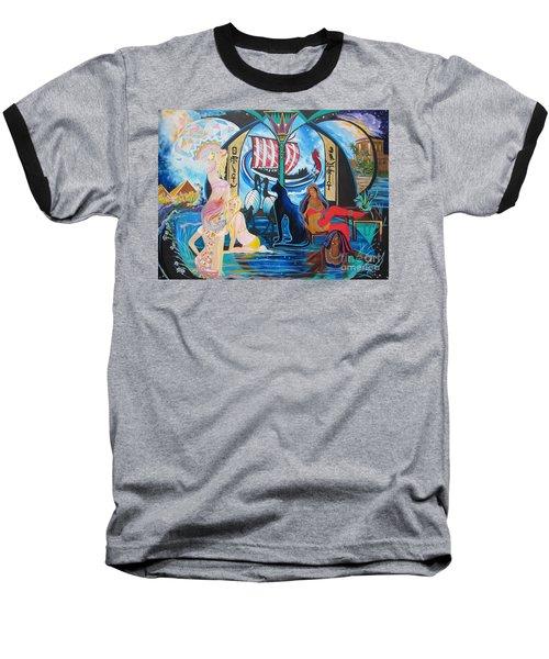 Five Celestial Celebrations                                        Blaa Kattproduksjoner  -  Baseball T-Shirt