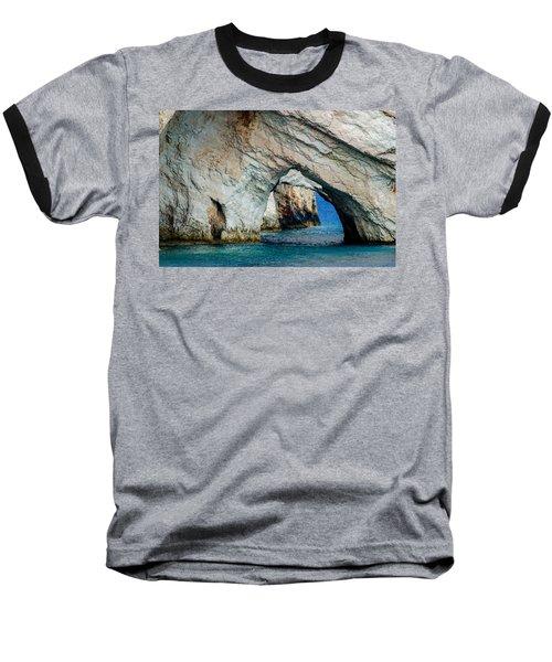 Blue Caves 1 Baseball T-Shirt