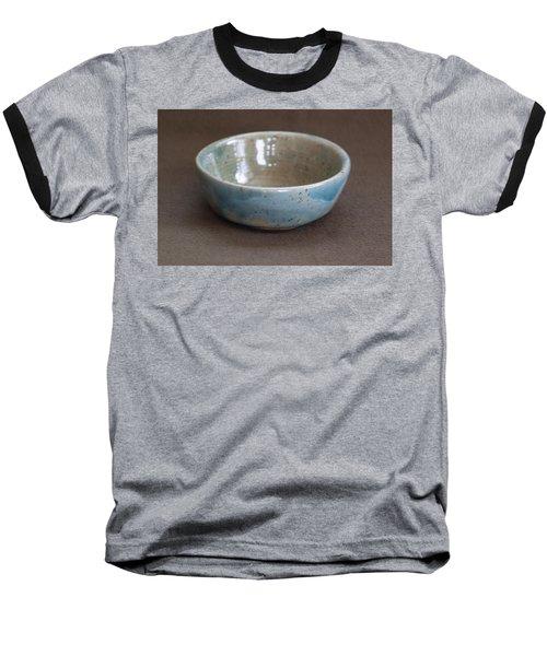 Blue Ceramic Drippy Bowl Baseball T-Shirt by Suzanne Gaff