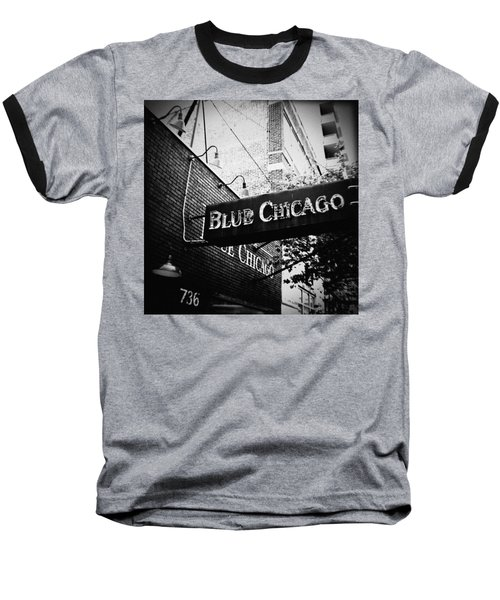 Blue Chicago Nightclub Baseball T-Shirt