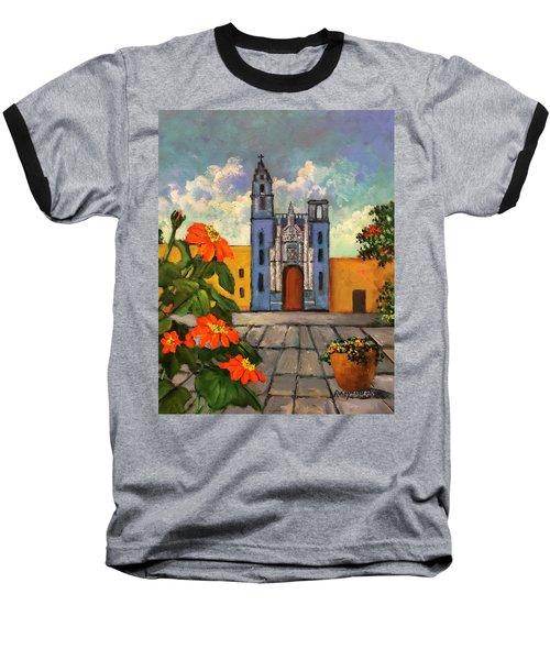 Blue Church   Iglesia Azul Baseball T-Shirt
