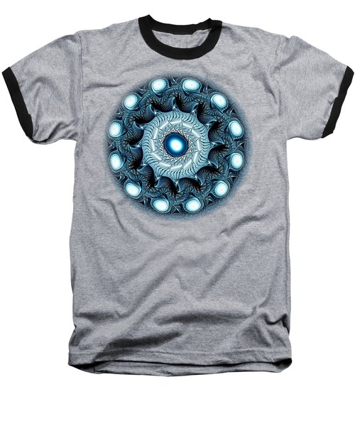 Blue Circle Baseball T-Shirt by Anastasiya Malakhova