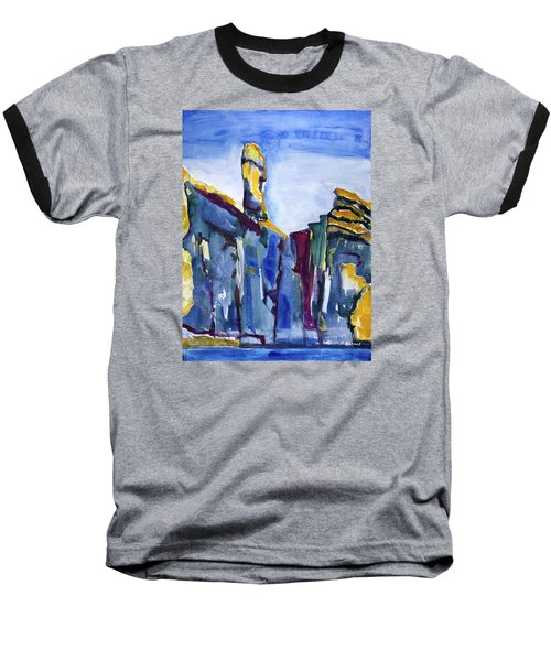 Blue Cliffs, Sea And Sky Baseball T-Shirt