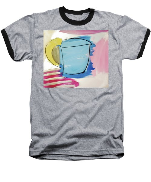 Blue Coffee Mug Baseball T-Shirt by Amara Dacer