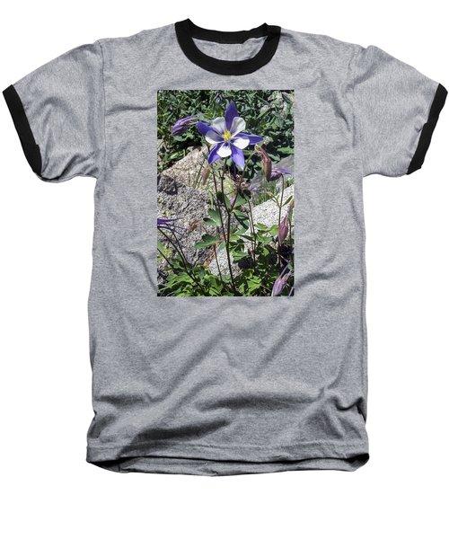 Blue Columbine Colorado Mountains Baseball T-Shirt