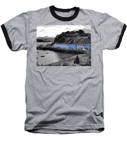 Blue Cottages At Portree Harbour 5 Baseball T-Shirt