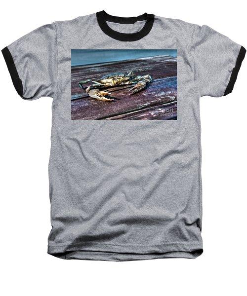 Blue Crab - Above View Baseball T-Shirt
