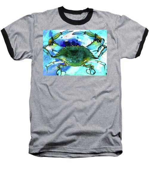 Blue Crab - Abstract Seafood Painting Baseball T-Shirt