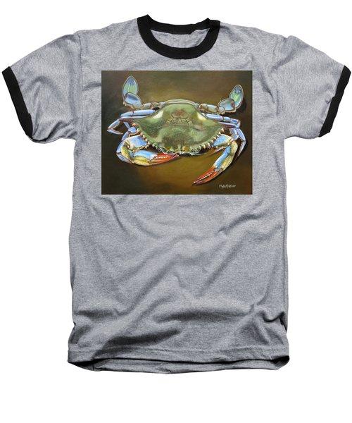 Blue Crab Baseball T-Shirt by Phyllis Beiser