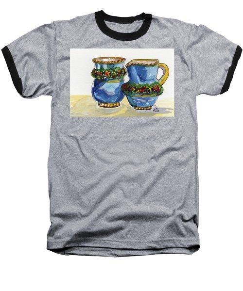 Blue Cream And Sugar Baseball T-Shirt