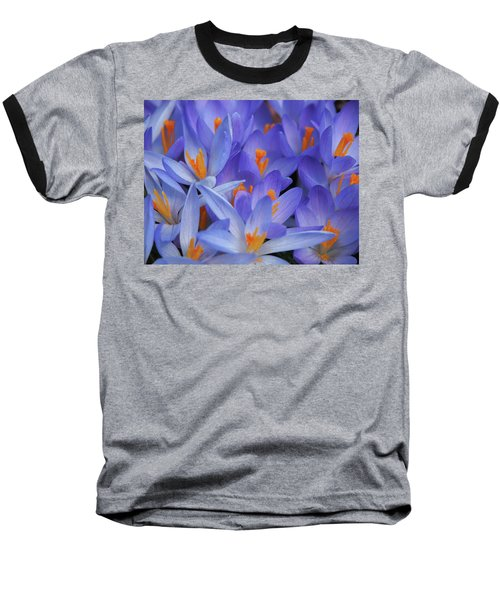 Blue Crocuses Baseball T-Shirt