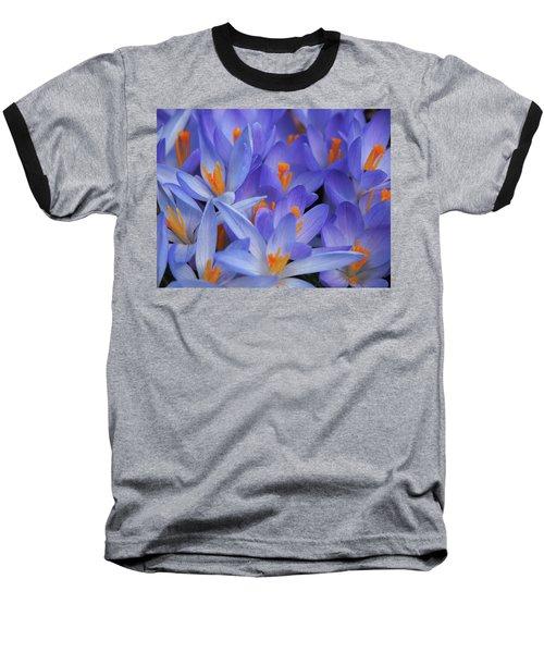 Blue Crocuses Baseball T-Shirt