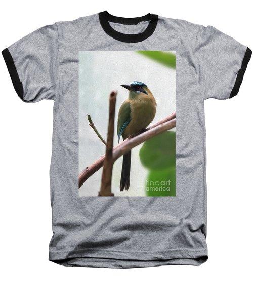 Blue-crowned Motmot Oil Baseball T-Shirt