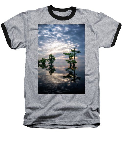 Blue Cypress Sunrise #1 Baseball T-Shirt