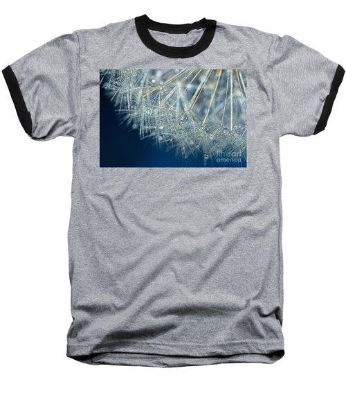 Blue Dandelion Dew By Kaye Menner Baseball T-Shirt