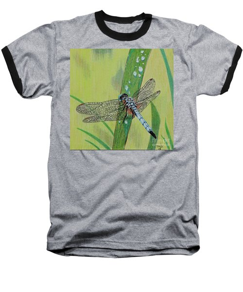 Blue Dasher Baseball T-Shirt by Terri Mills