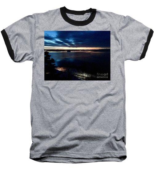 Blue Dawn On Casco Bay Baseball T-Shirt