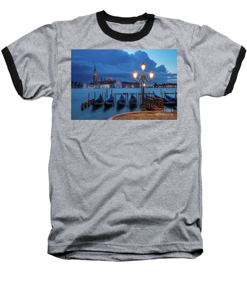 Baseball T-Shirt featuring the photograph Blue Dawn Over Venice by Brian Jannsen