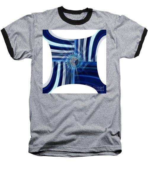 Blue Dimension  Baseball T-Shirt by Thibault Toussaint