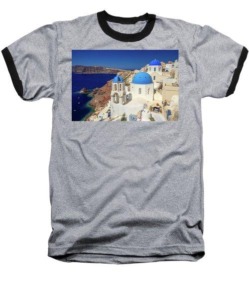 Blue Domed Churches Baseball T-Shirt