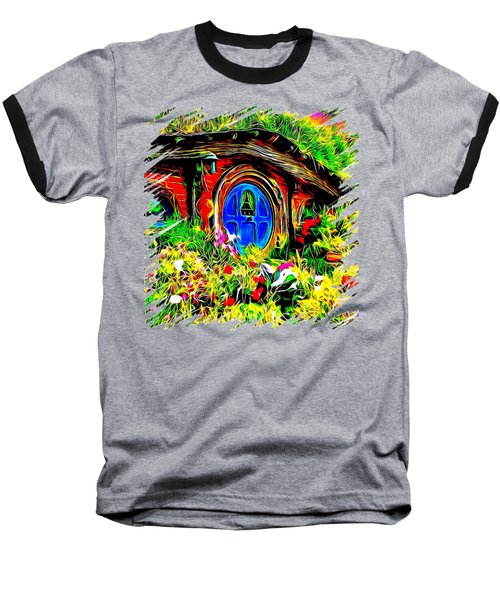 Blue Door Hobbit House-t Shirt Baseball T-Shirt by Kathy Kelly