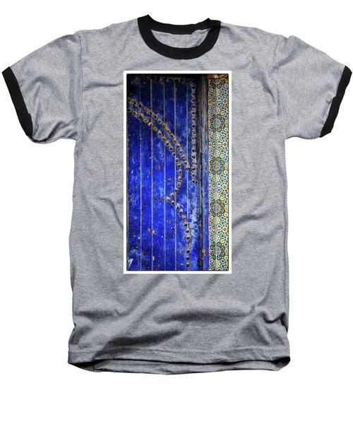 Blue Door In Marrakech Baseball T-Shirt